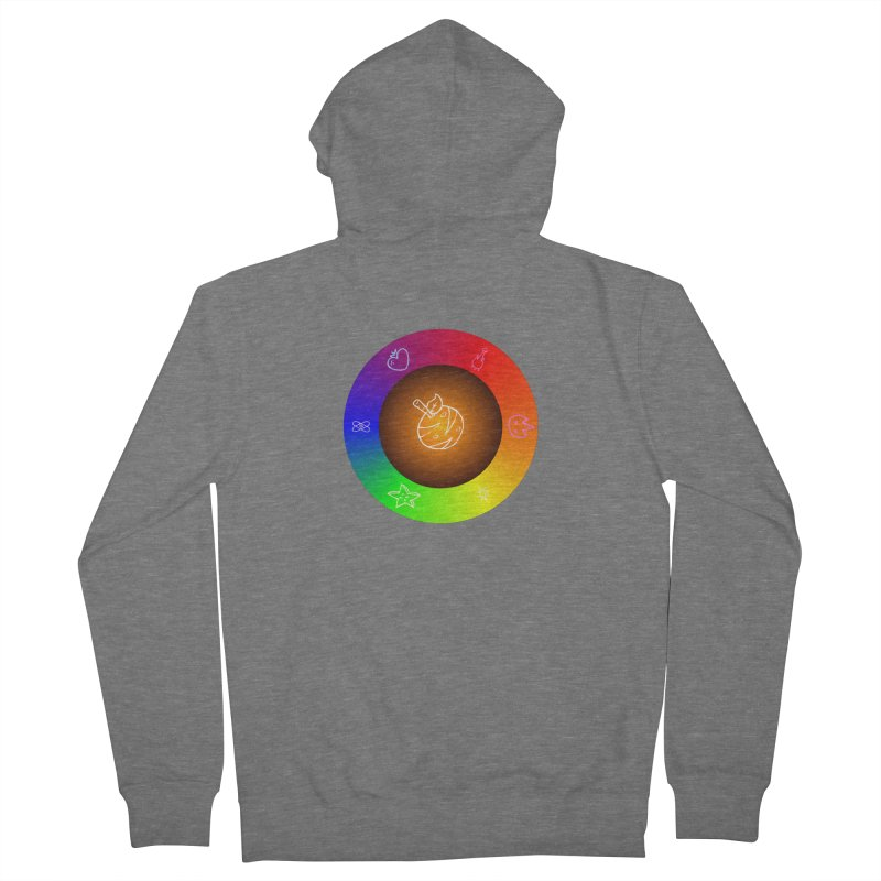 Froot the Rainbow Women's French Terry Zip-Up Hoody by Strange Froots Merch