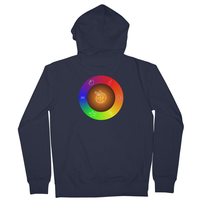 Froot the Rainbow Men's French Terry Zip-Up Hoody by Strange Froots Merch