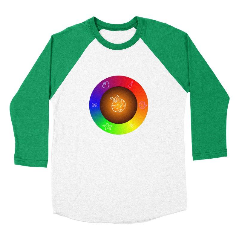 Froot the Rainbow Men's Baseball Triblend Longsleeve T-Shirt by Strange Froots Merch