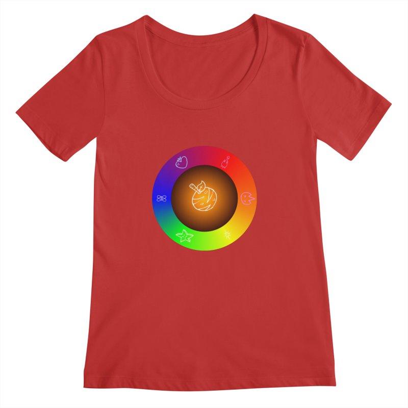 Froot the Rainbow Women's Regular Scoop Neck by Strange Froots Merch