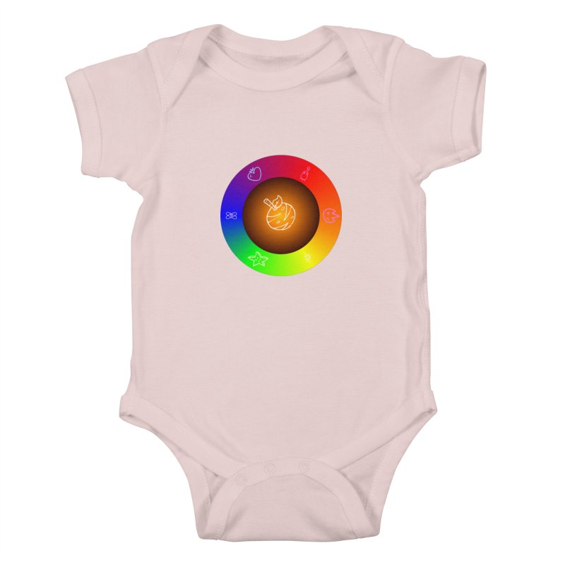Froot the Rainbow Kids Baby Bodysuit by Strange Froots Merch