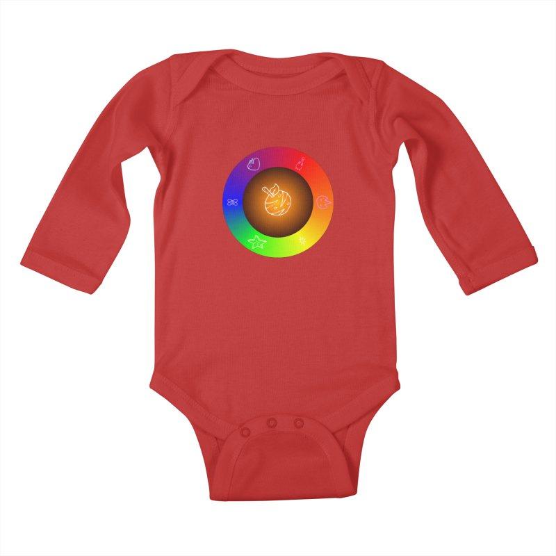 Froot the Rainbow Kids Baby Longsleeve Bodysuit by Strange Froots Merch
