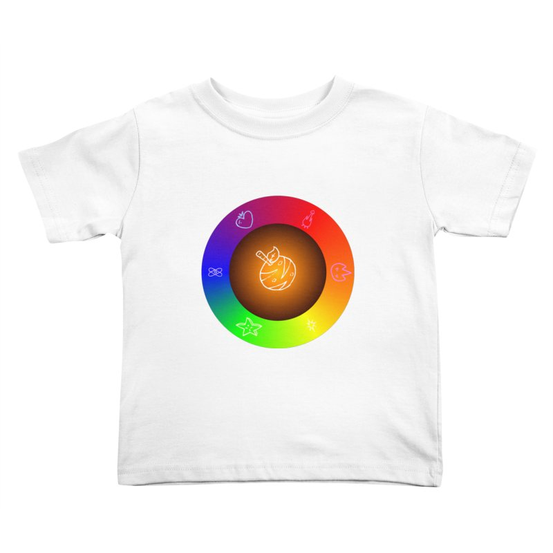 Froot the Rainbow Kids Toddler T-Shirt by Strange Froots Merch