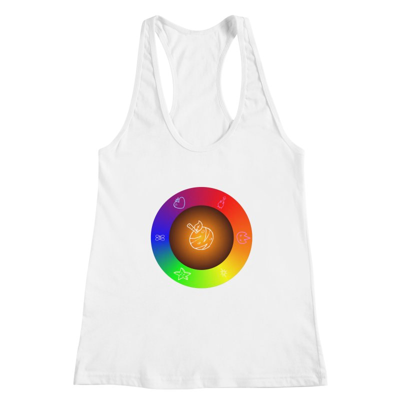 Froot the Rainbow Women's Racerback Tank by Strange Froots Merch