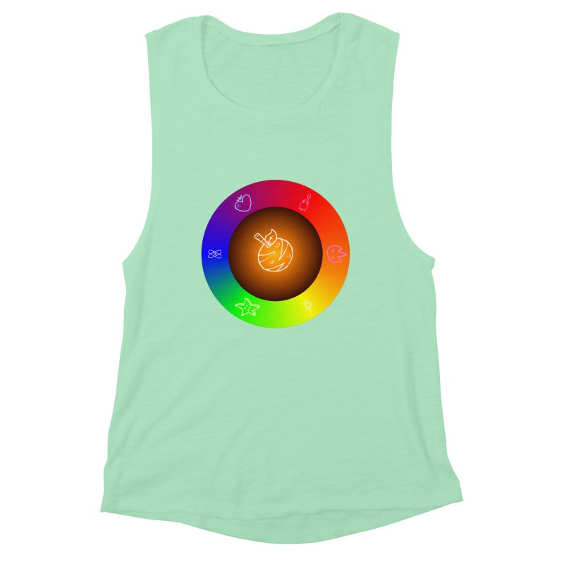 Froot the Rainbow Women's Muscle Tank by Strange Froots Merch