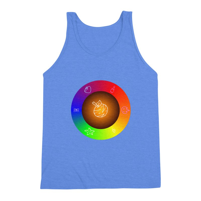 Froot the Rainbow Men's Triblend Tank by Strange Froots Merch