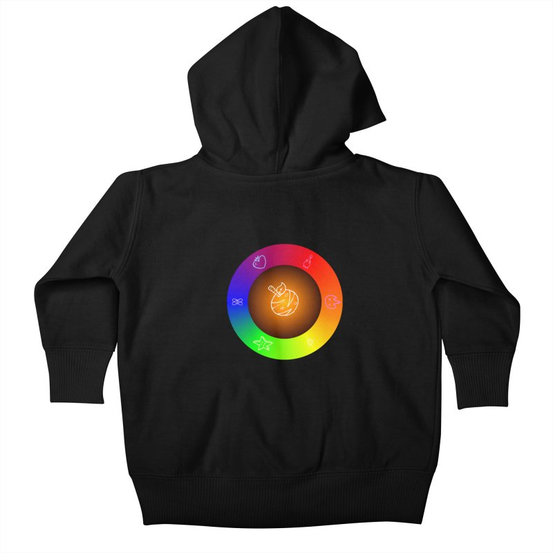 Froot the Rainbow Kids Baby Zip-Up Hoody by Strange Froots Merch