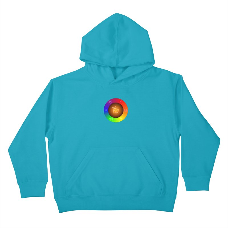 Froot the Rainbow Kids Pullover Hoody by Strange Froots Merch