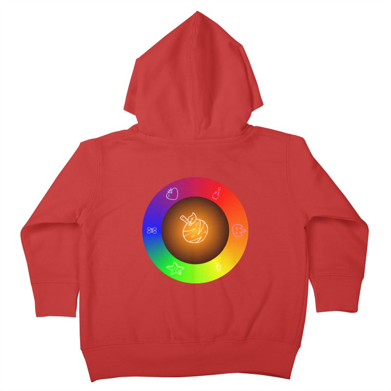 Froot the Rainbow Kids Toddler Zip-Up Hoody by Strange Froots Merch