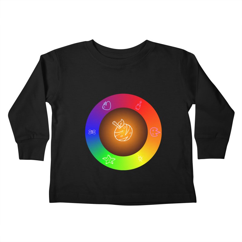 Froot the Rainbow Kids Toddler Longsleeve T-Shirt by Strange Froots Merch
