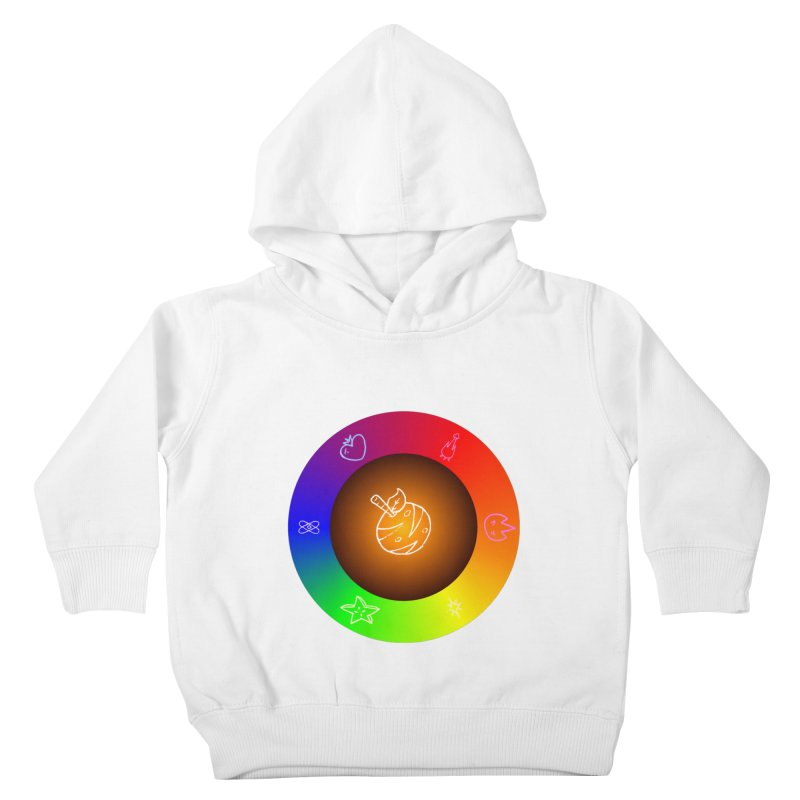 Froot the Rainbow Kids Toddler Pullover Hoody by Strange Froots Merch