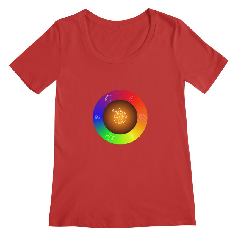 Froot the Rainbow Women's Regular Scoop Neck by Strange Froots Merch