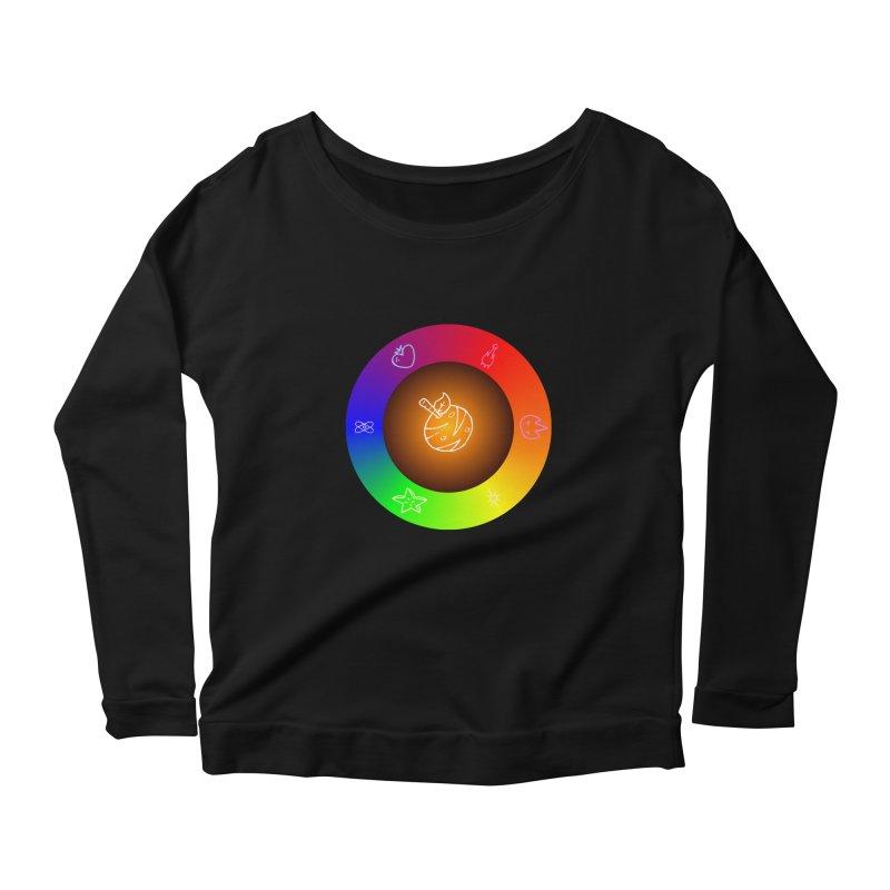 Froot the Rainbow Women's Scoop Neck Longsleeve T-Shirt by Strange Froots Merch