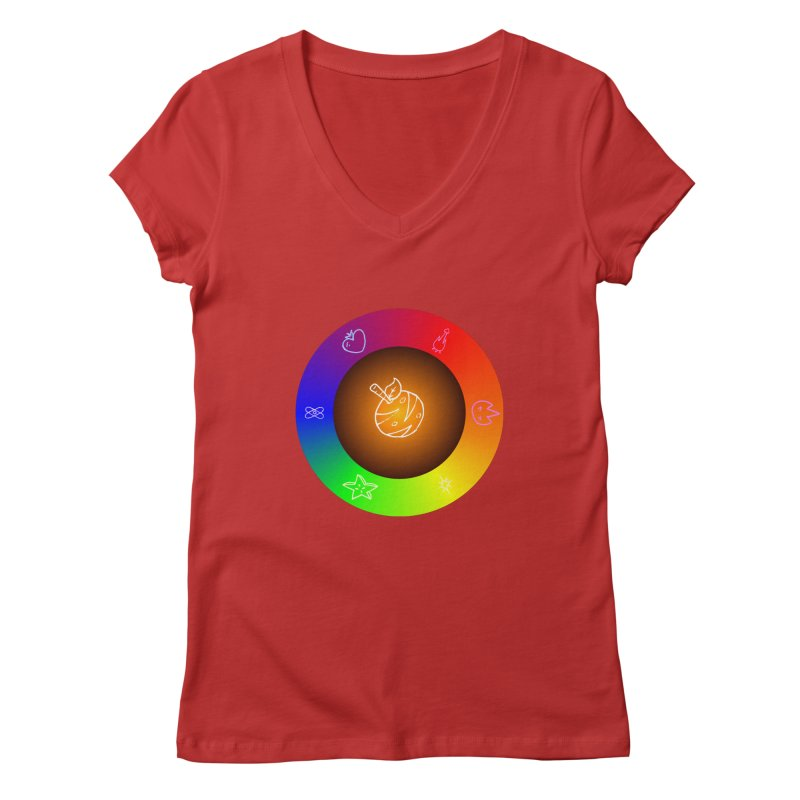 Froot the Rainbow Women's Regular V-Neck by Strange Froots Merch