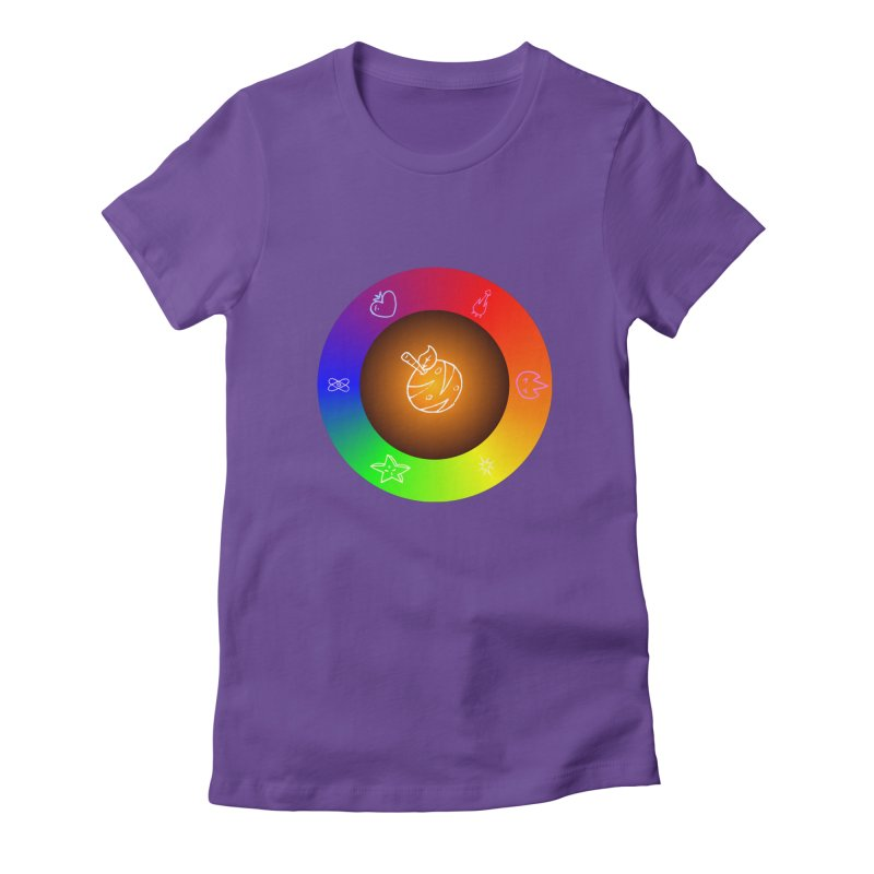 Froot the Rainbow Women's Fitted T-Shirt by Strange Froots Merch