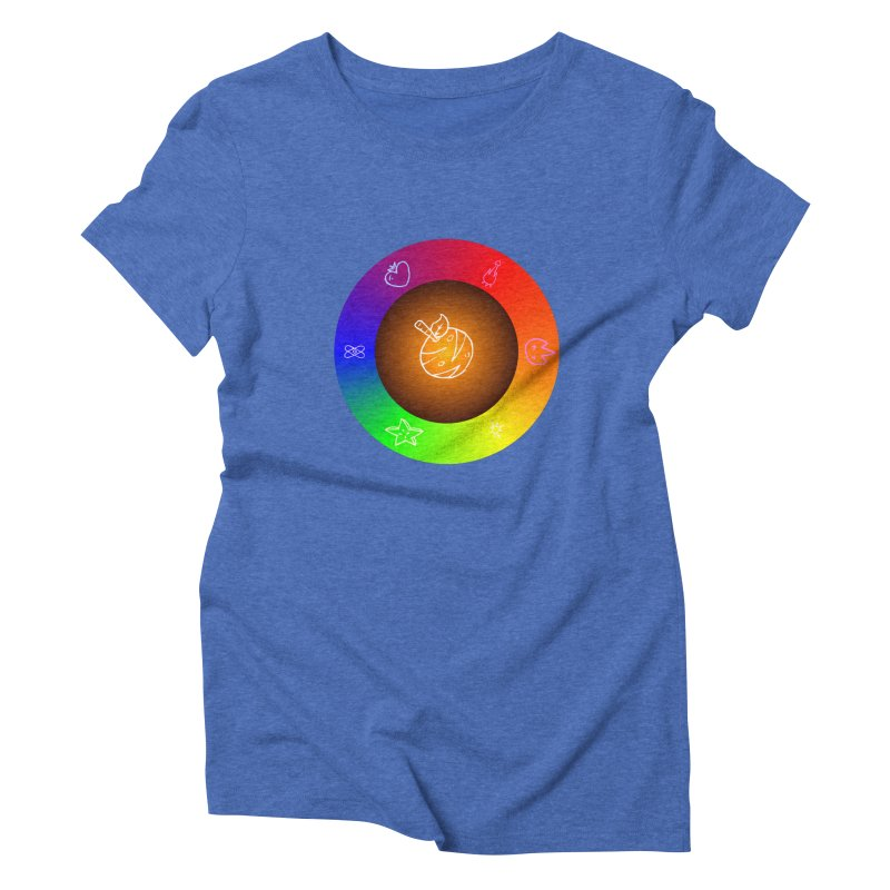 Froot the Rainbow Women's Triblend T-Shirt by Strange Froots Merch