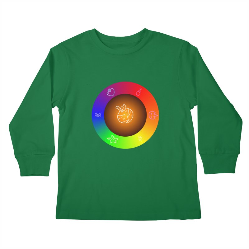 Froot the Rainbow Kids Longsleeve T-Shirt by Strange Froots Merch