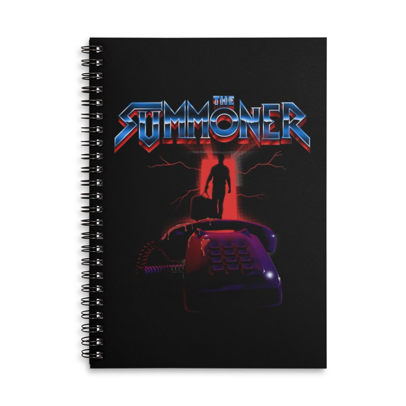 The Summoner - Take The Call Accessories Lined Spiral Notebook by
