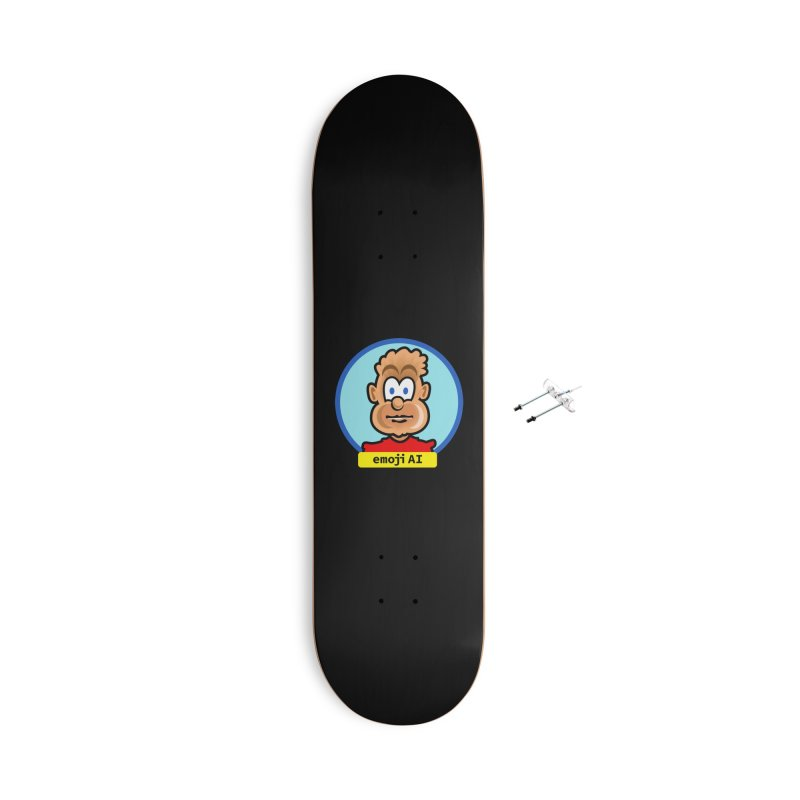 Emoji  AI Accessories With Hanging Hardware Skateboard by thethinkforward's Artist Shop