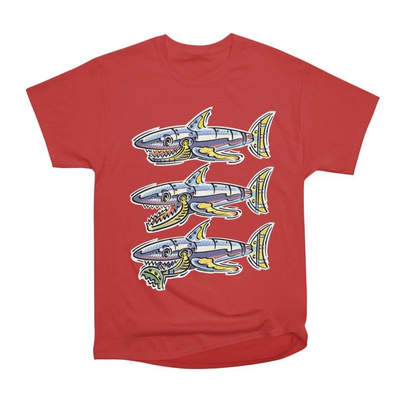 Shark Eat Women's Heavyweight Unisex T-Shirt by thethinkforward's Artist Shop