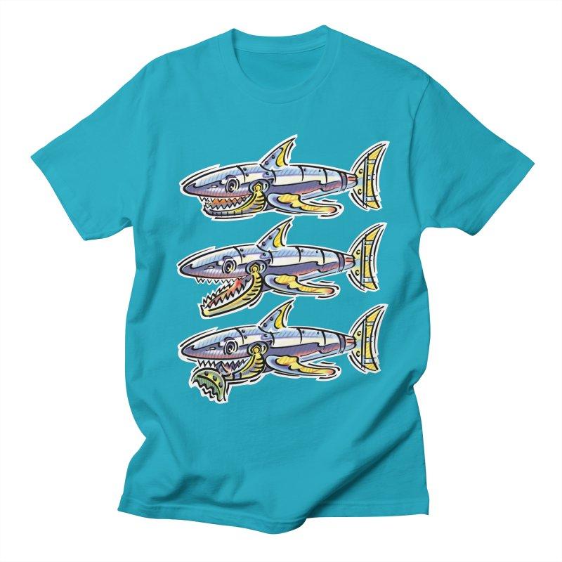 Shark Eat Men's Regular T-Shirt by thethinkforward's Artist Shop