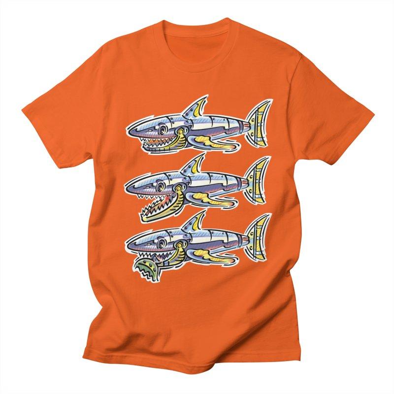 Shark Eat Women's Regular Unisex T-Shirt by thethinkforward's Artist Shop