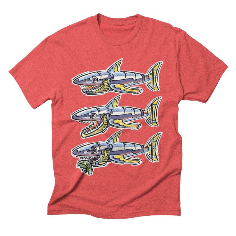 Shark Eat Men's Triblend T-Shirt by thethinkforward's Artist Shop