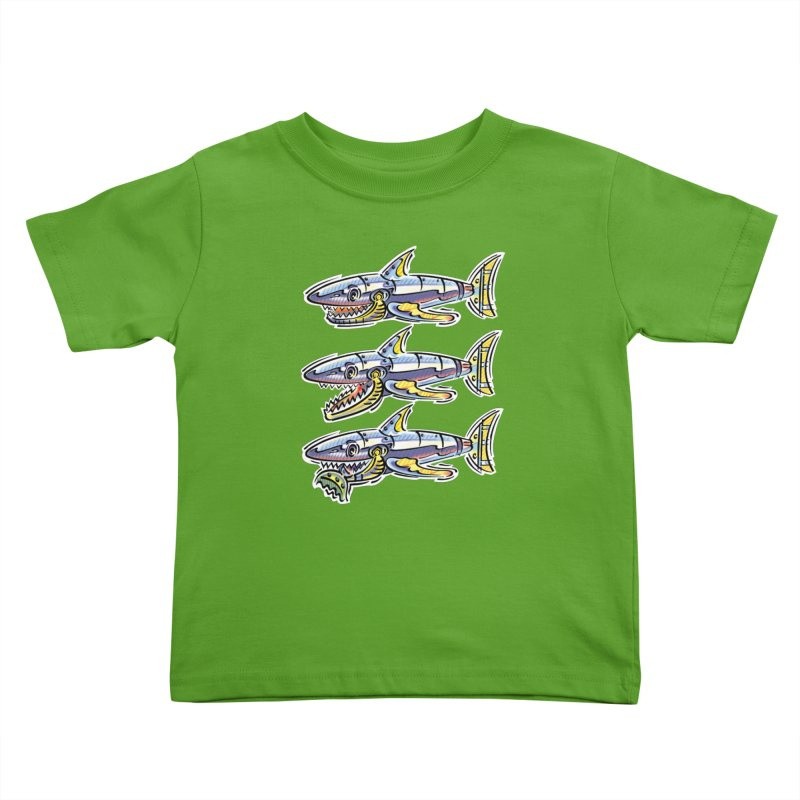 Shark Eat Kids Toddler T-Shirt by thethinkforward's Artist Shop