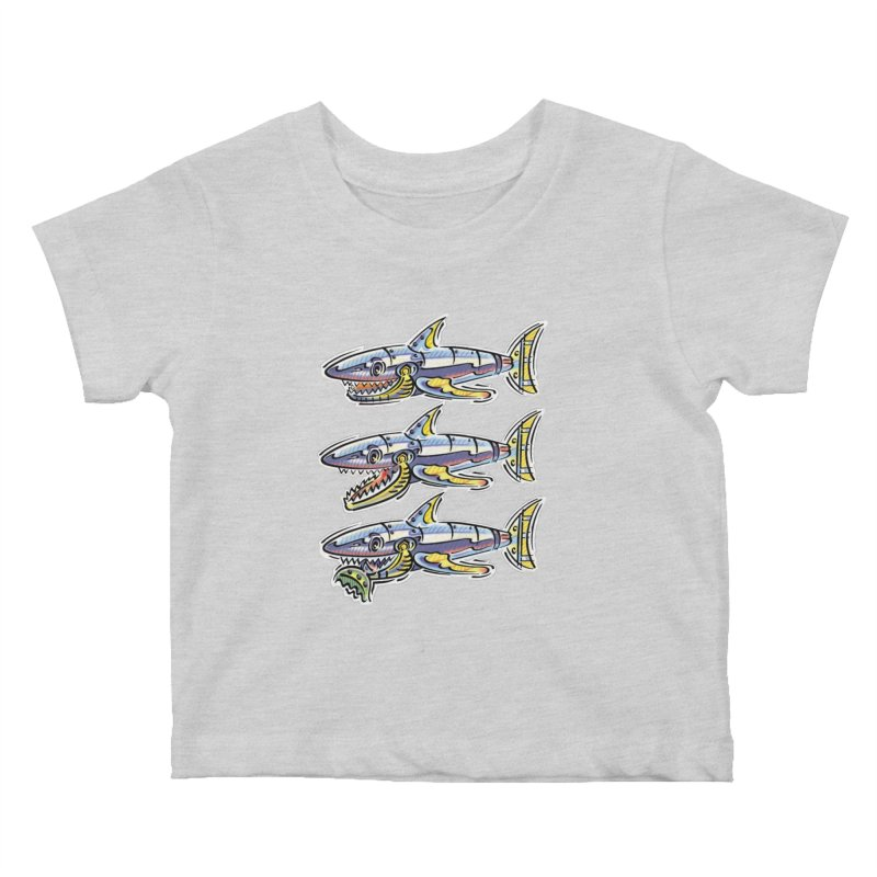 Shark Eat Kids Baby T-Shirt by thethinkforward's Artist Shop