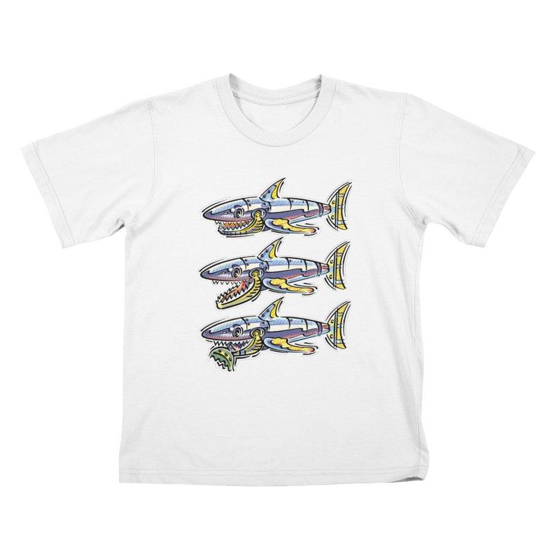 Shark Eat Kids T-Shirt by thethinkforward's Artist Shop
