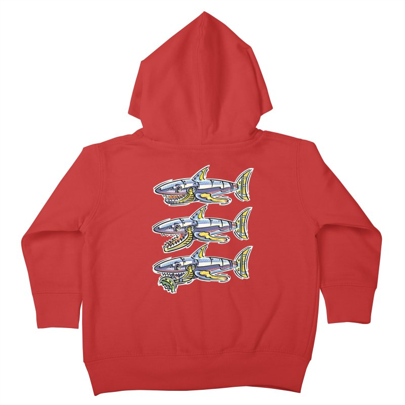 Shark Eat Kids Toddler Zip-Up Hoody by thethinkforward's Artist Shop