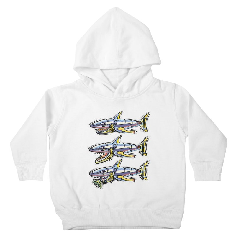 Shark Eat Kids Toddler Pullover Hoody by thethinkforward's Artist Shop
