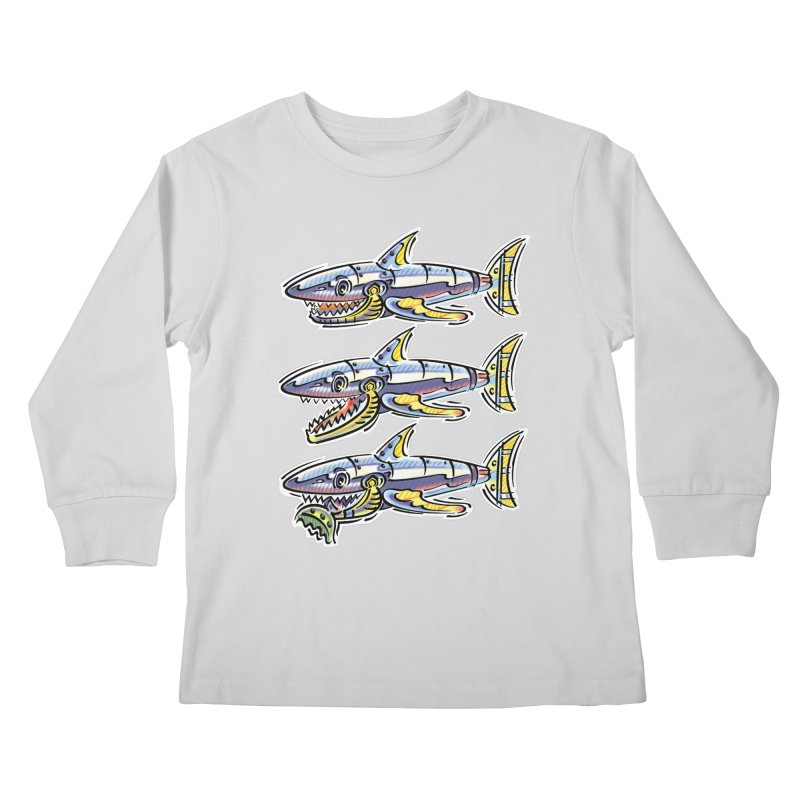 Shark Eat Kids Longsleeve T-Shirt by thethinkforward's Artist Shop