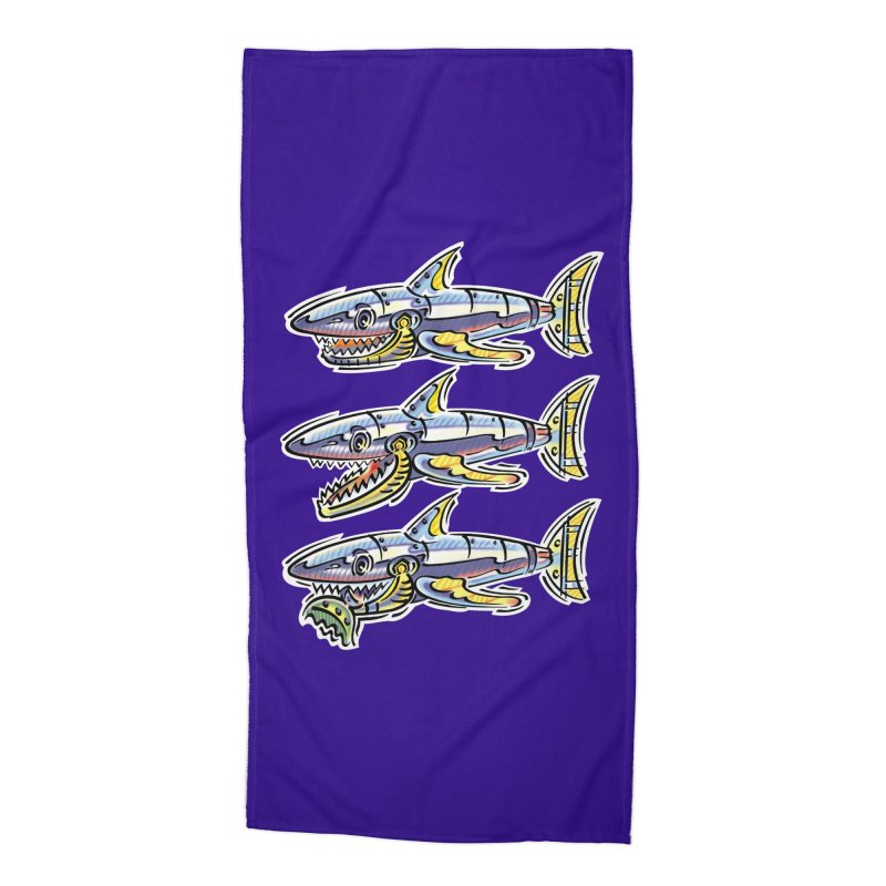 Shark Eat Accessories Beach Towel by thethinkforward's Artist Shop