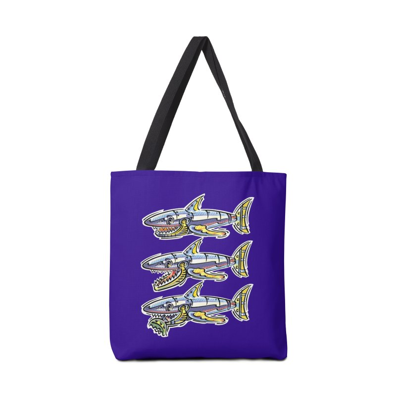 Shark Eat Accessories Tote Bag Bag by thethinkforward's Artist Shop