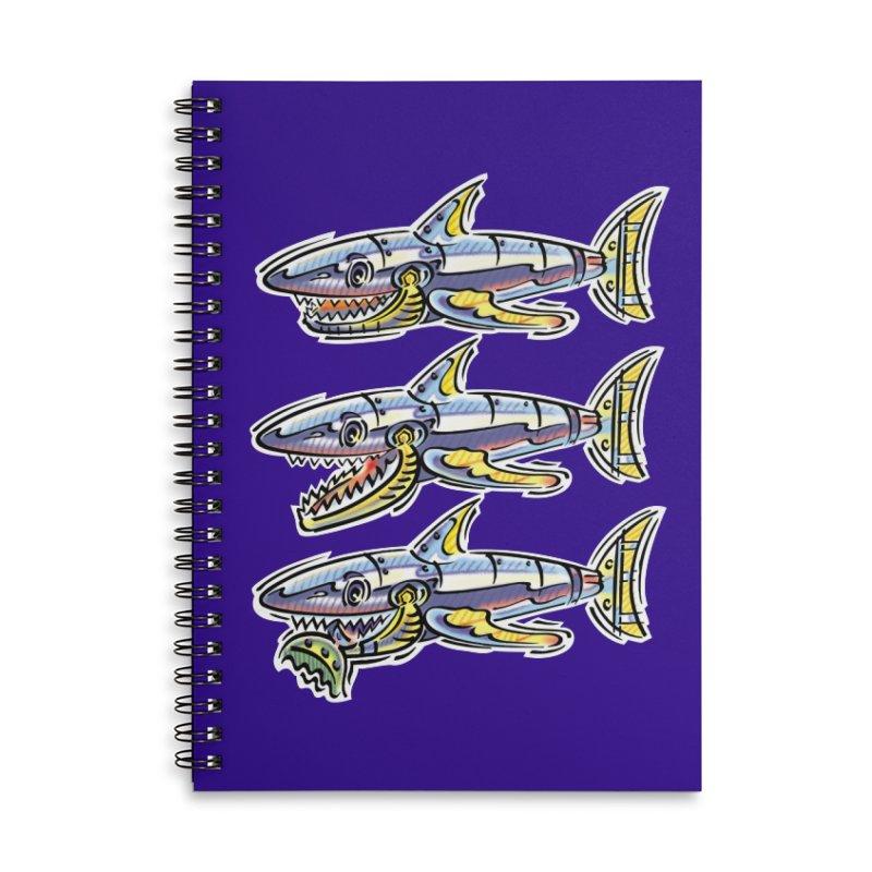 Shark Eat Accessories Notebook by thethinkforward's Artist Shop