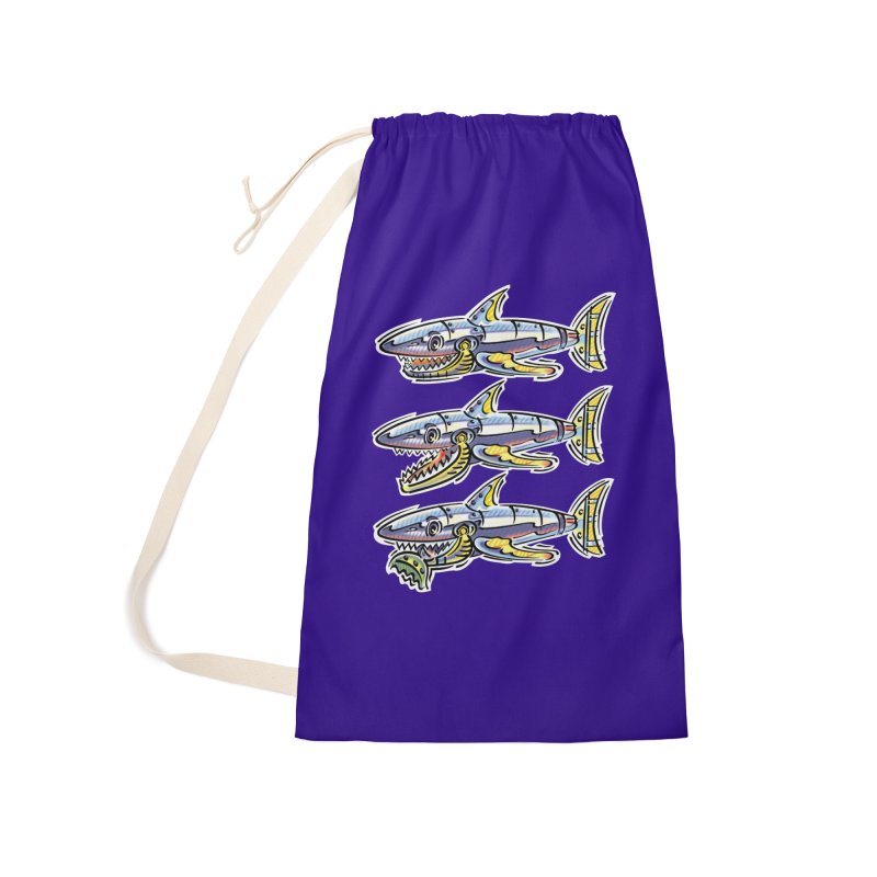 Shark Eat Accessories Laundry Bag Bag by thethinkforward's Artist Shop