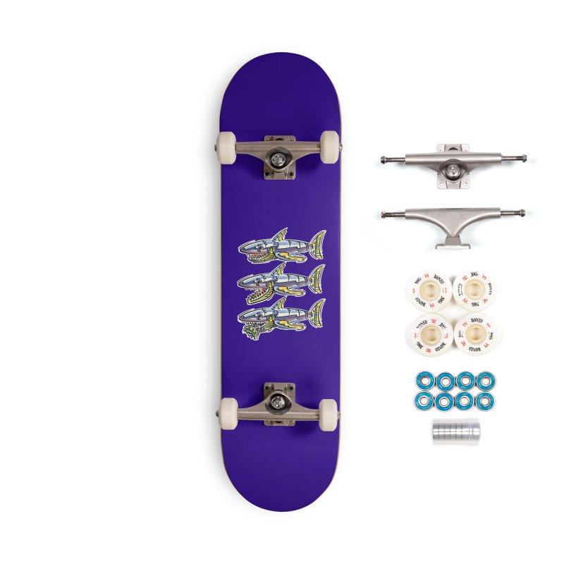 Shark Eat Accessories Skateboard by thethinkforward's Artist Shop