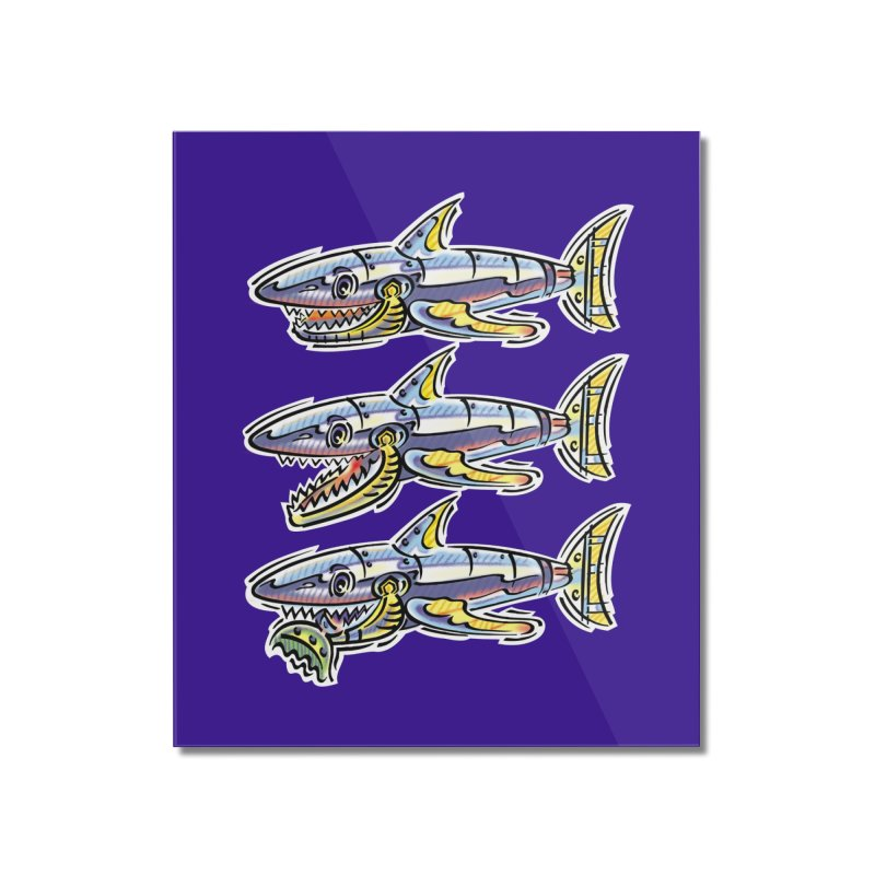 Shark Eat Home Mounted Acrylic Print by thethinkforward's Artist Shop