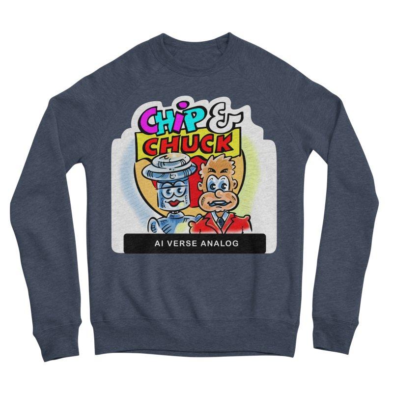 AI Verse Analog Men's Sponge Fleece Sweatshirt by thethinkforward's Artist Shop