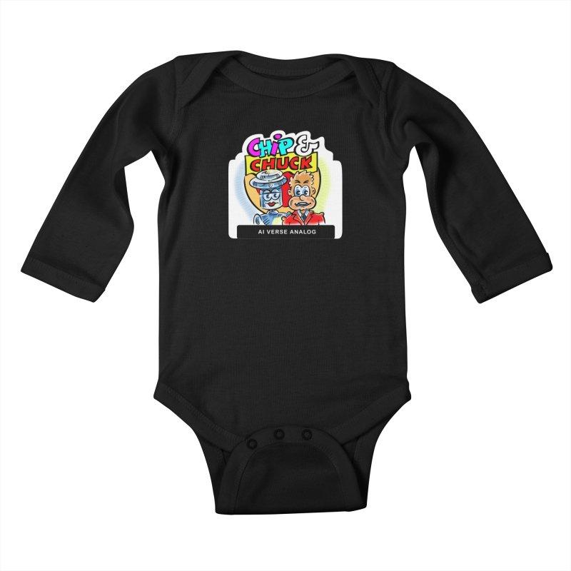 AI Verse Analog Kids Baby Longsleeve Bodysuit by thethinkforward's Artist Shop