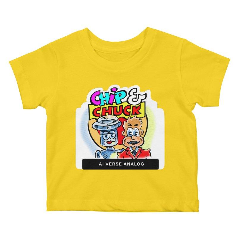 AI Verse Analog Kids Baby T-Shirt by thethinkforward's Artist Shop