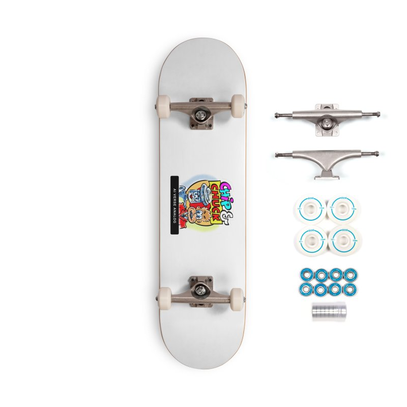 AI Verse Analog Accessories Skateboard by thethinkforward's Artist Shop