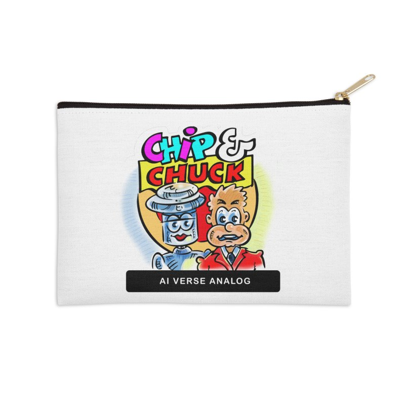 AI Verse Analog Accessories Zip Pouch by thethinkforward's Artist Shop