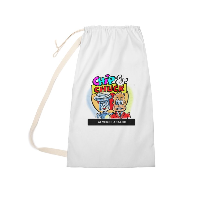 AI Verse Analog Accessories Laundry Bag Bag by thethinkforward's Artist Shop