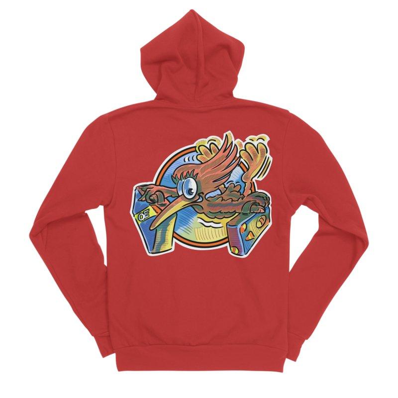 KIWI-FLY Men's Zip-Up Hoody by thethinkforward's Artist Shop