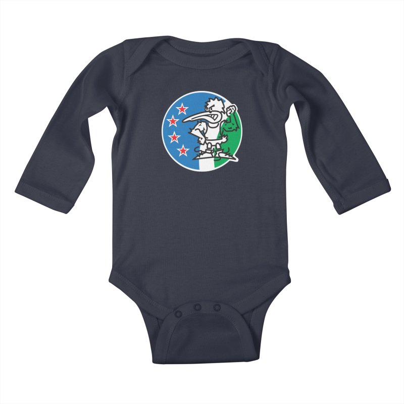 KIWI MAD Kids Baby Longsleeve Bodysuit by thethinkforward's Artist Shop