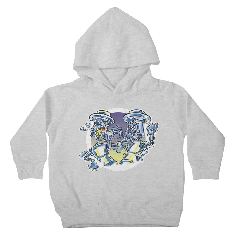 ROBOT WARS Kids Toddler Pullover Hoody by thethinkforward's Artist Shop