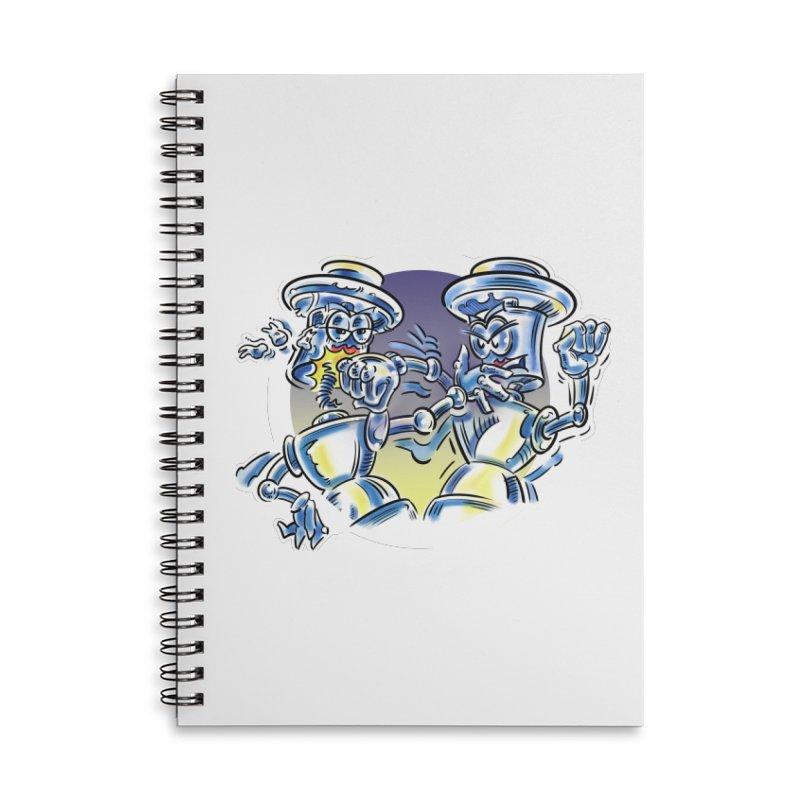 ROBOT WARS Accessories Notebook by thethinkforward's Artist Shop