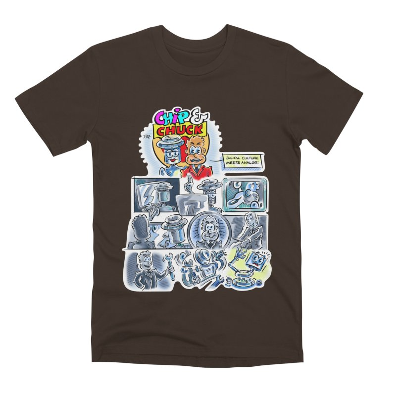 Chip & Chuck Analog Men's Premium T-Shirt by thethinkforward's Artist Shop